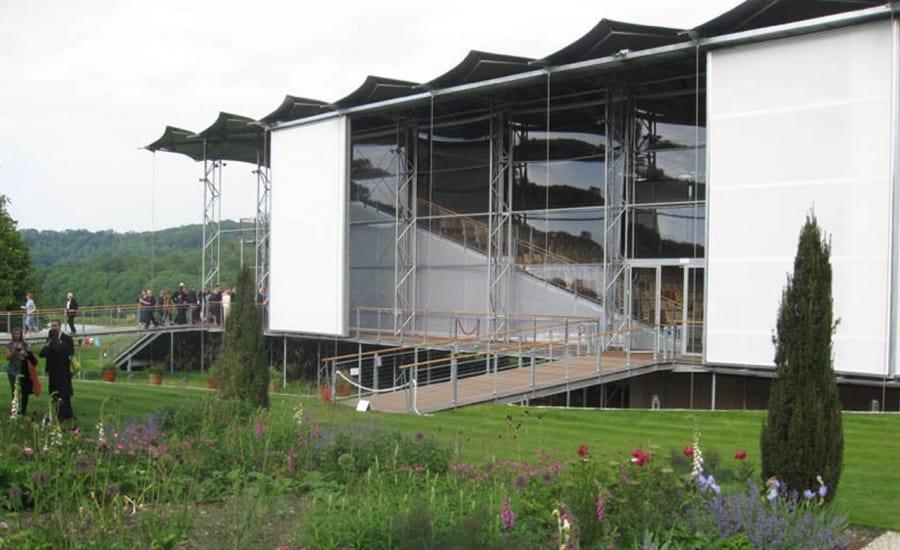 Temporary tensile fabric opera venue