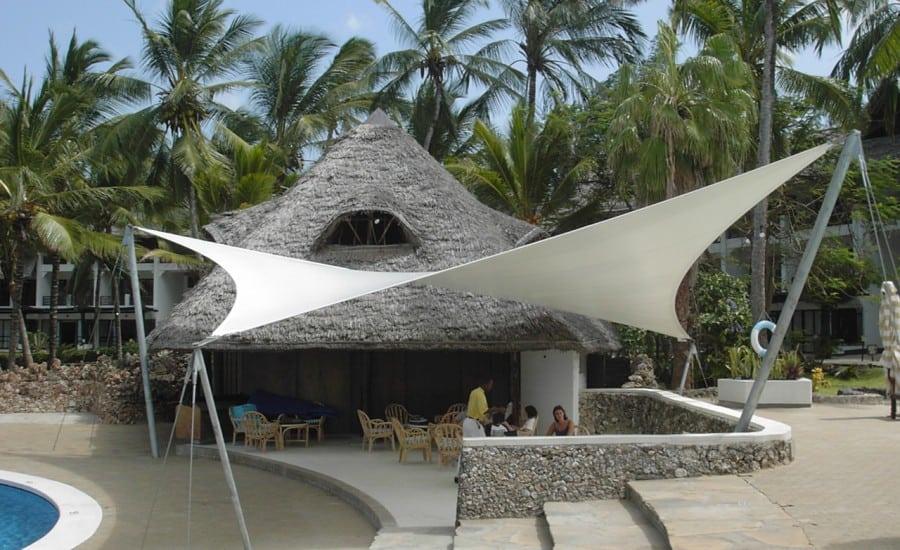 Tension fabric sail canopy