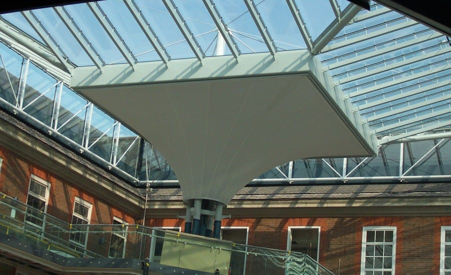 Sound absorbing conic fabric structure
