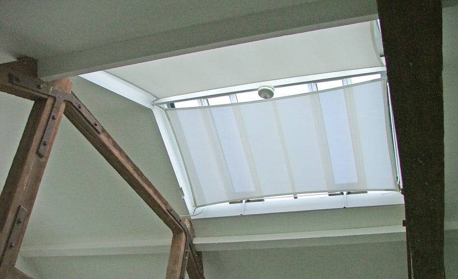 Light transmitting fabric screens