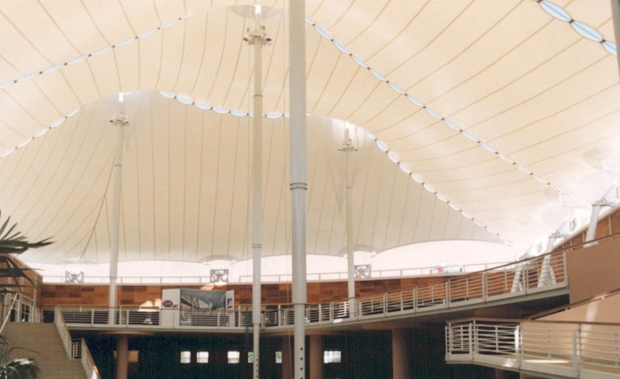 Large scale tensile fabric structure