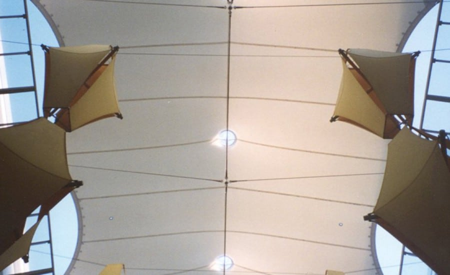 PVC tensile fabric canopy in Chile