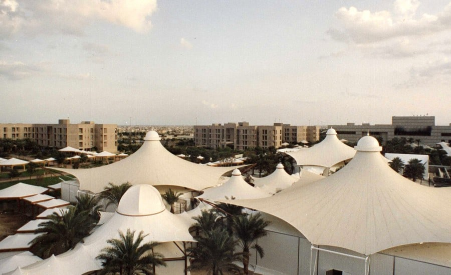 Tented stuctures covering conference facility