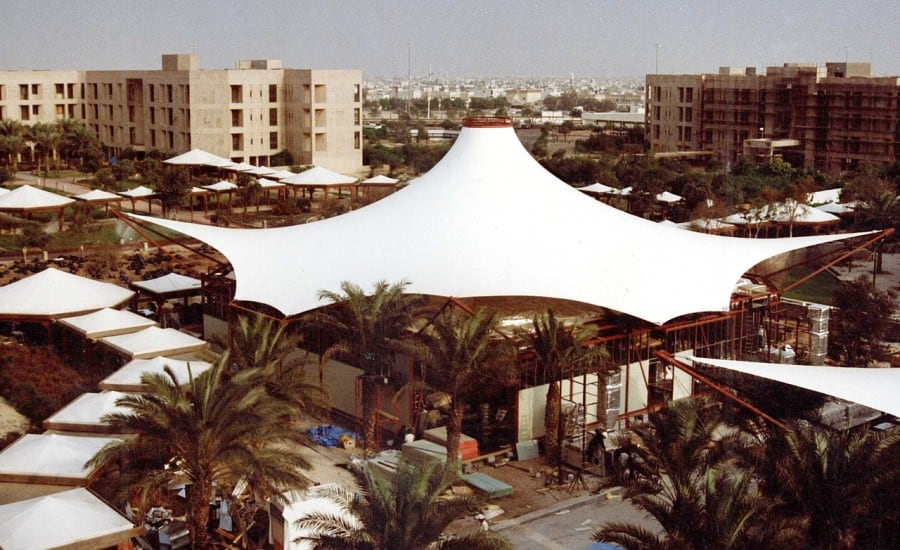Architectural fabric tent