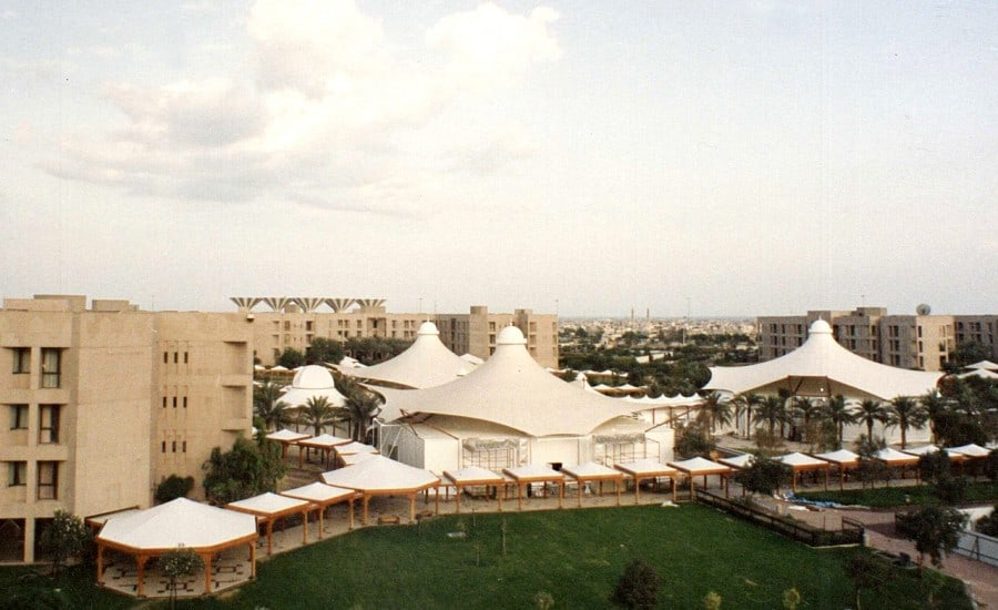 Fabric structures covering conference centre