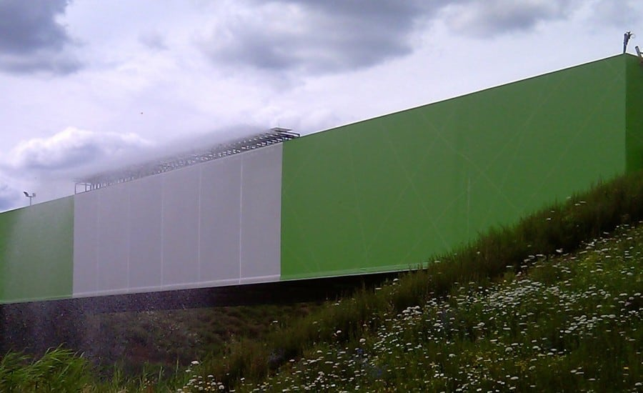 Coloured bridge cladding