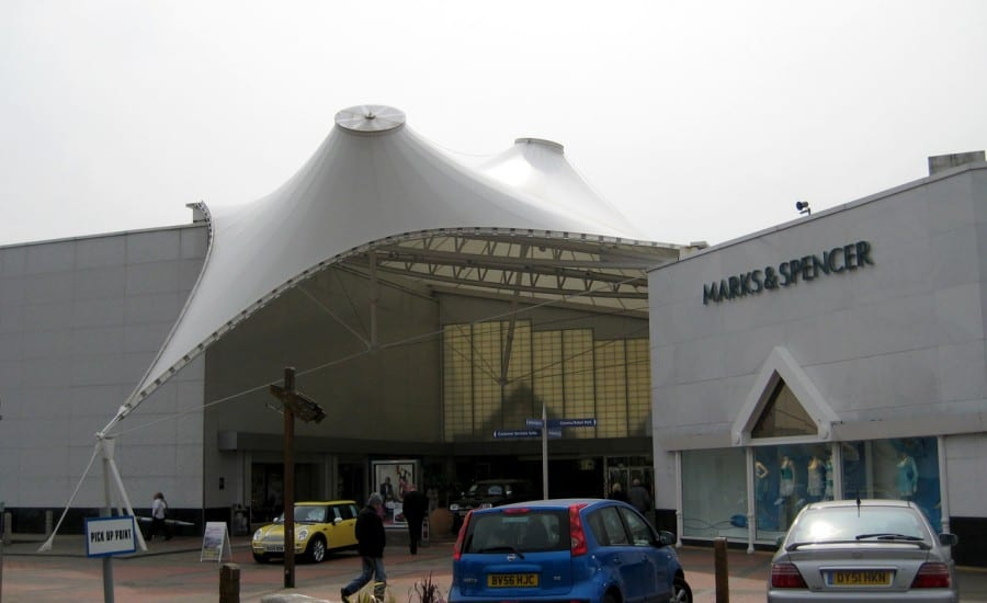 PTFE fabric atrium canopy for shopping centre