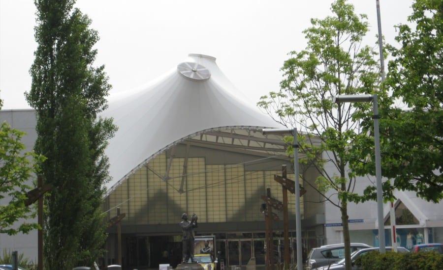 PTFE fabric entrance canopy