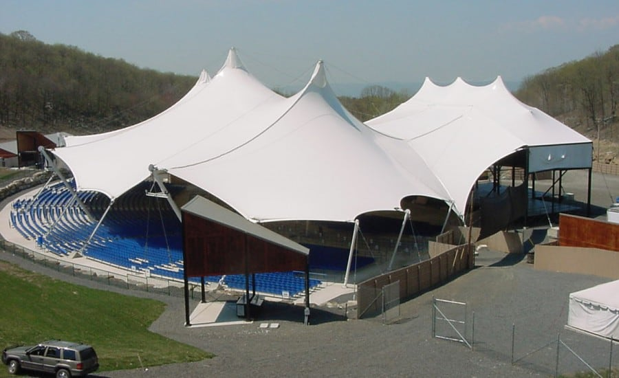 Tensile performing arts canopy in the USA