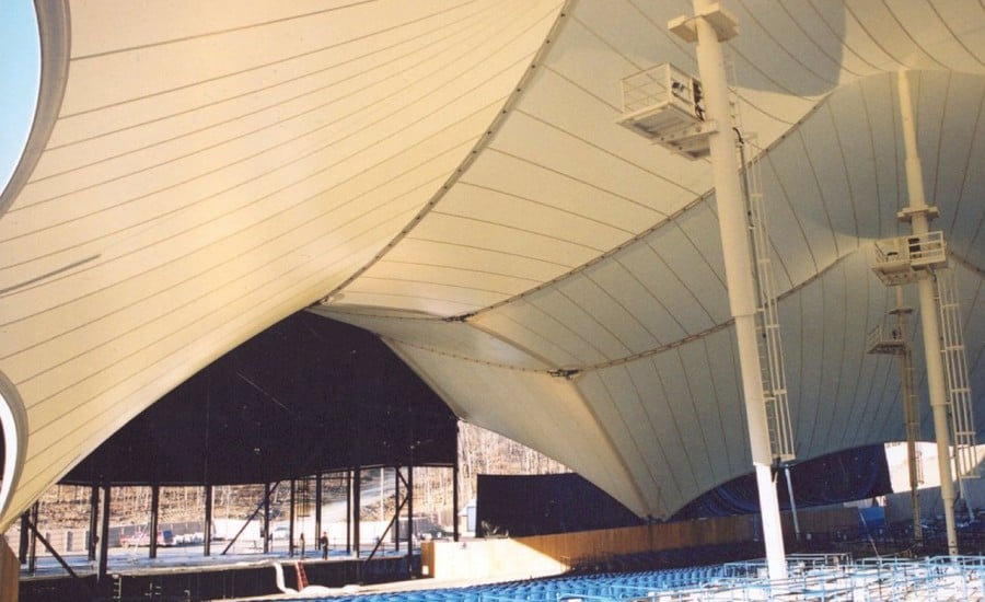 PVC vast fabric canopy