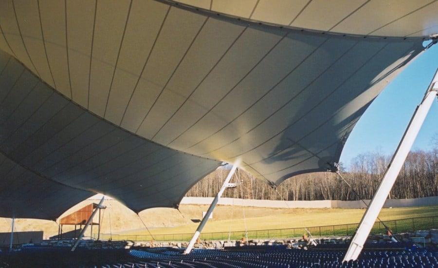 Tensile amphitheatre canopy