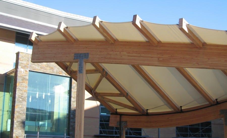 PVC entrance canopy