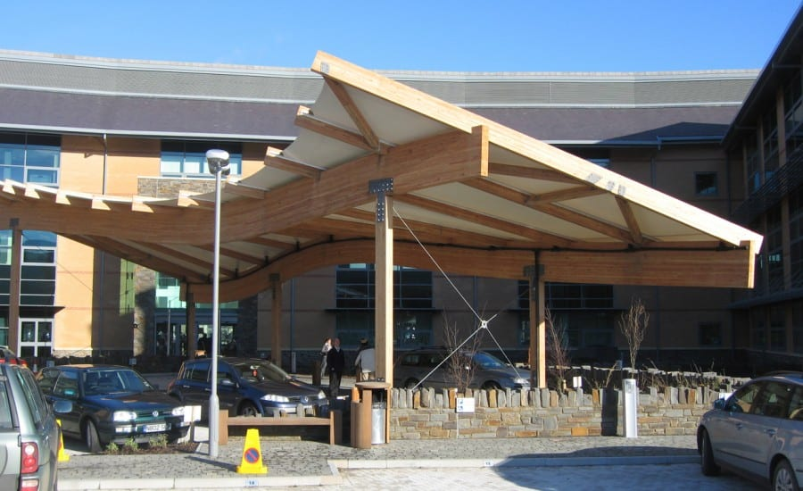 Timber framed PVC canopy
