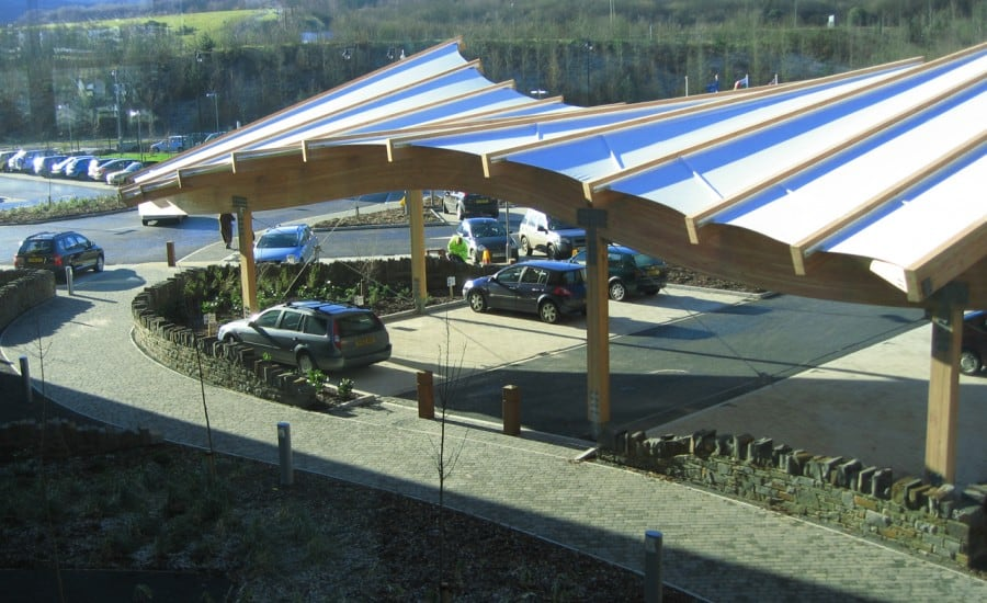 Curved PVC canopy