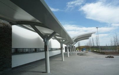 PVC hospital entrance and walkway