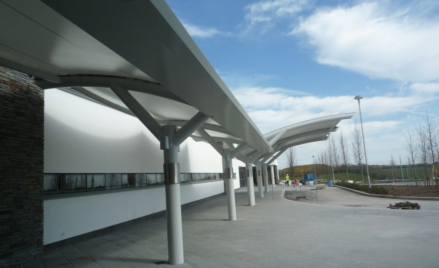PVC hospital entrance and walkway