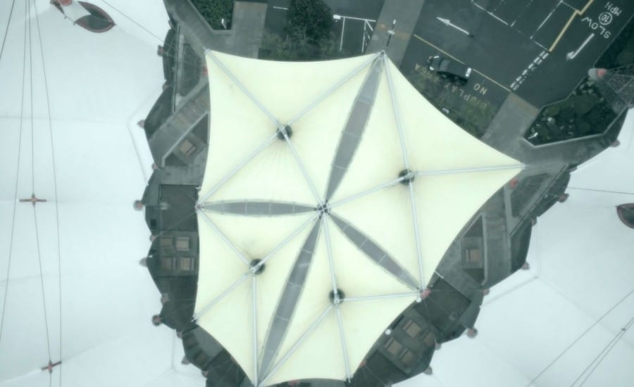 Support Structure for tensile fabric canopies