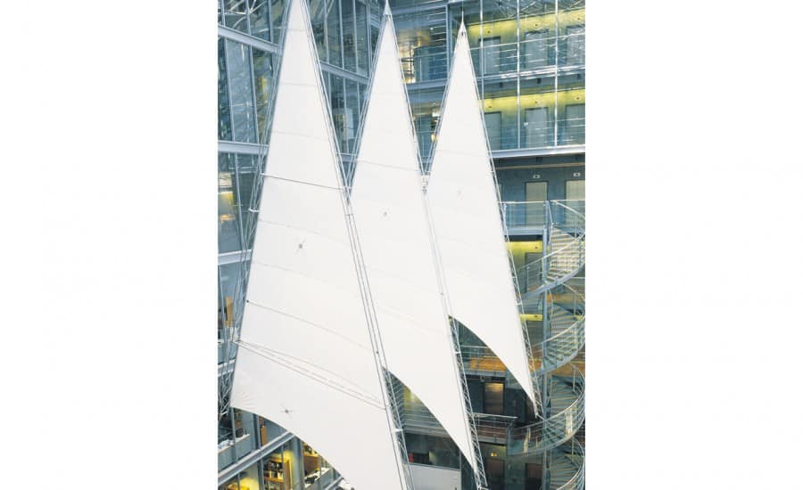Giant suspended PVC sails