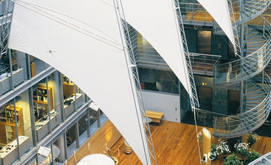 White PVC sails