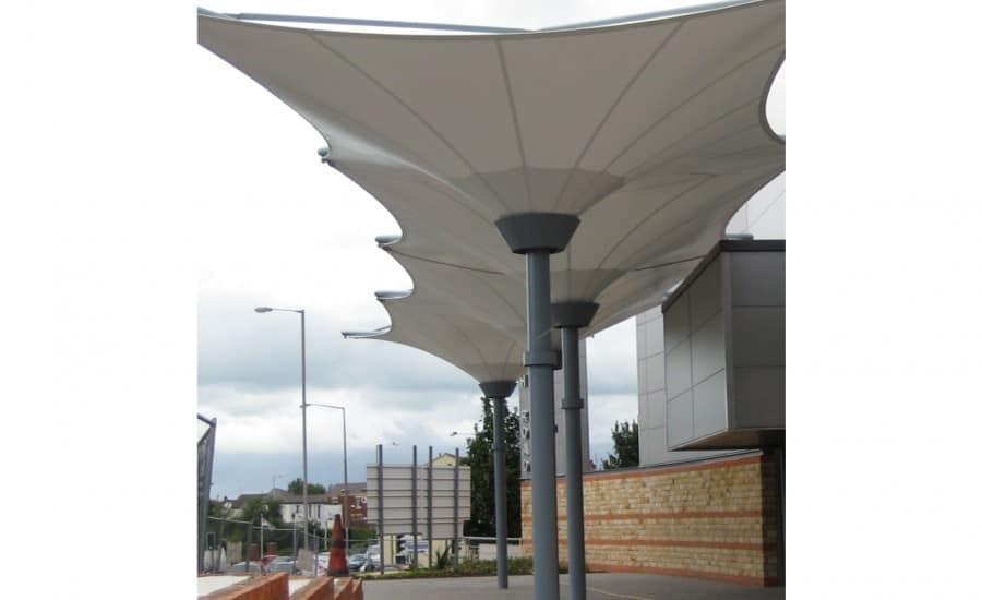 Inverted umbrella structures
