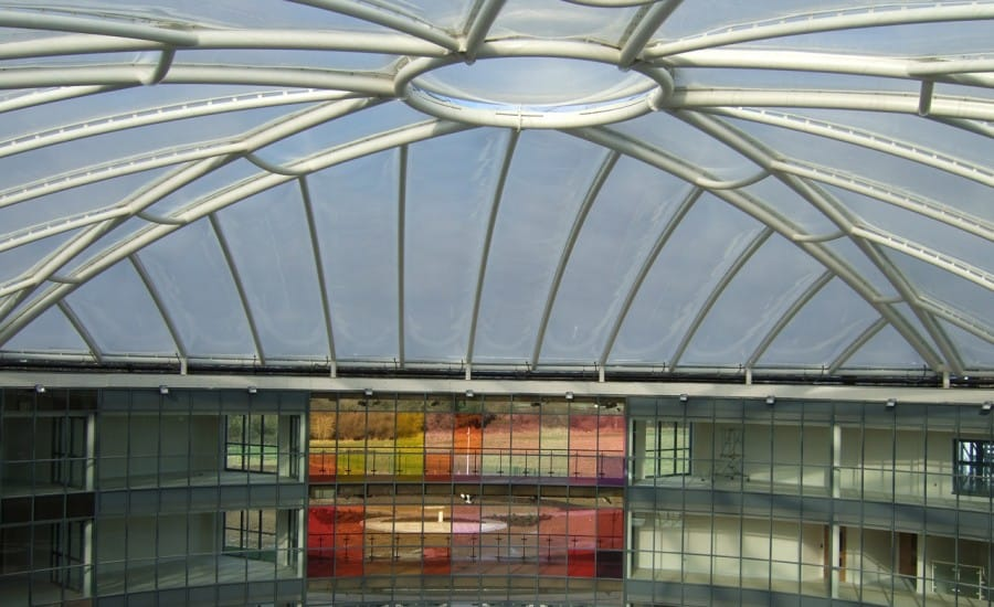 ETFE pillow roof over School