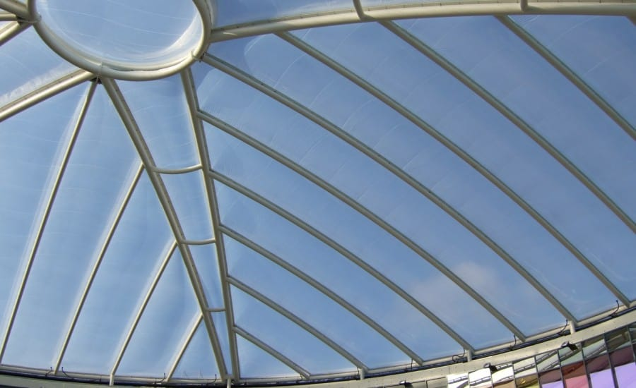 Clear domed ETFE roof