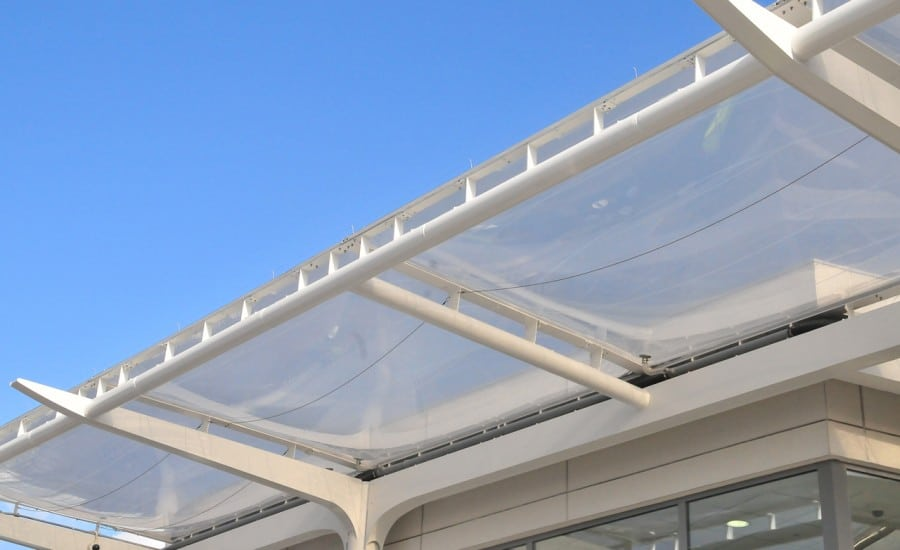 ETFE roof over bus station