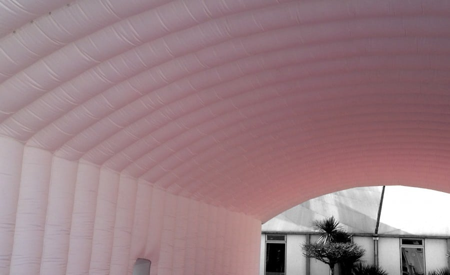 Inflatable dual membrane structure