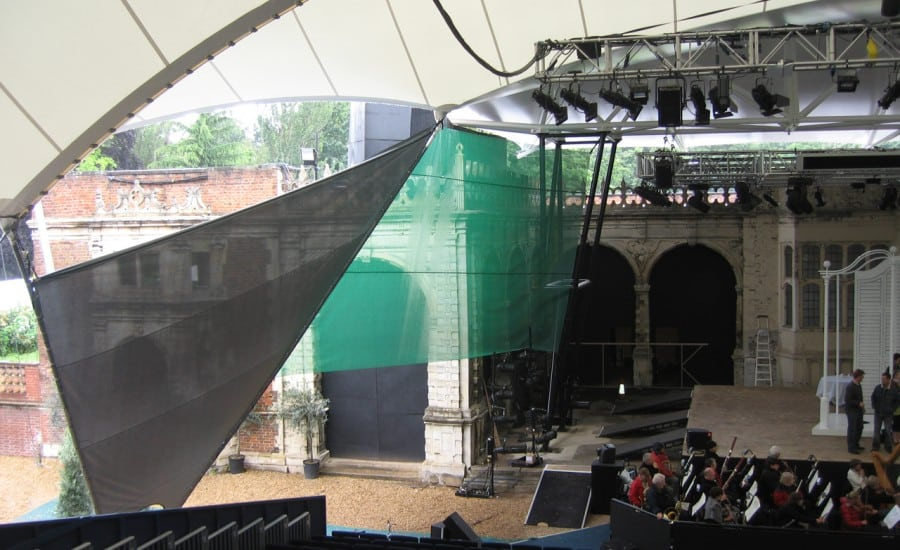 Fabric canopy roof for opera venue