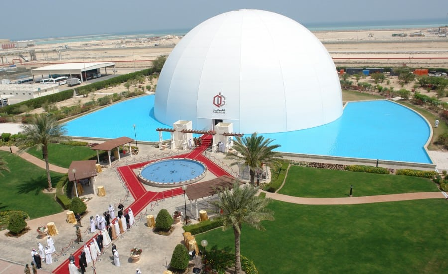 Spherical tensile fabric structure
