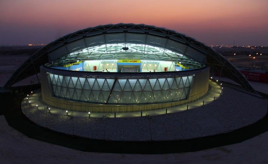 Tensile Fabric Canopy Over Stadium