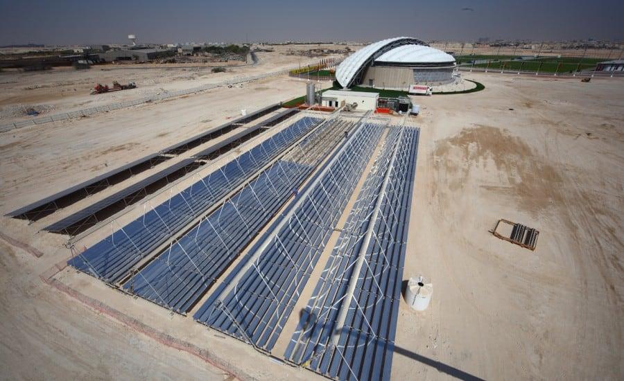 Large fabric stadium structure