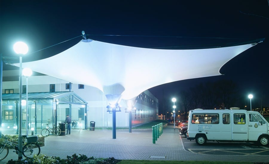 Large fabric entrance structure