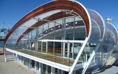 Shaped ETFE cushion roof