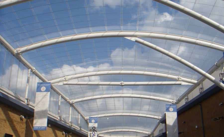 ETFE Foil single layer roof over school