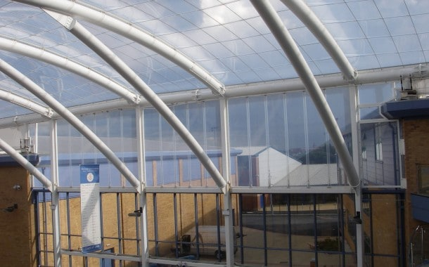 ETFE offers a bright dry space over school