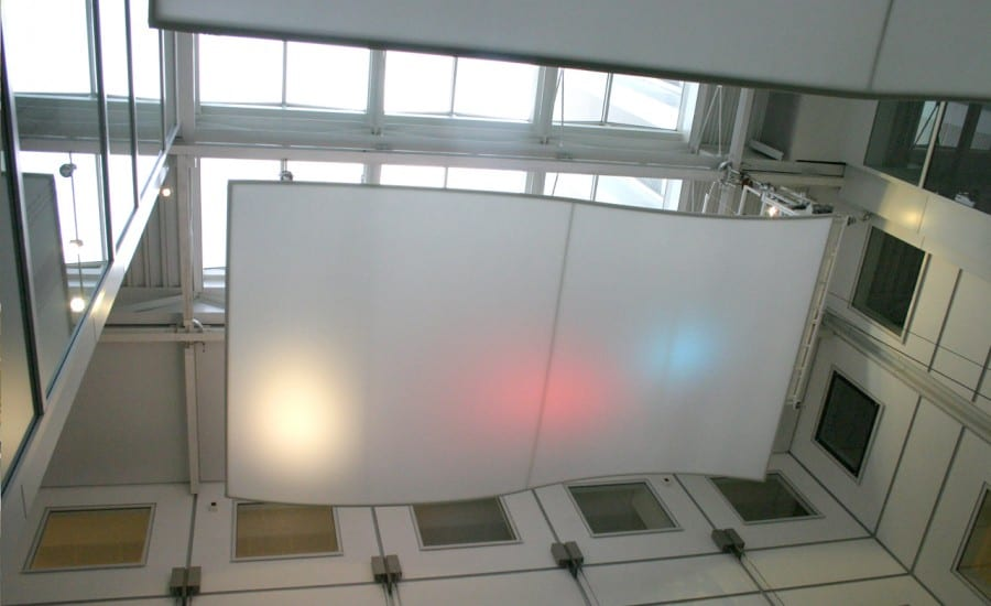 Curved fabric Ceiling Panels