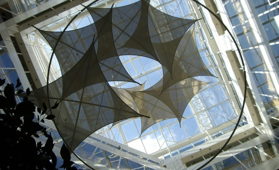 Interior fabric sculptural shade