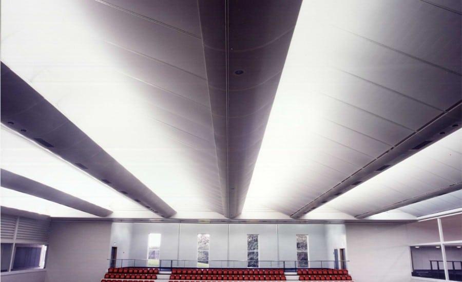 Barrel vaulted panels