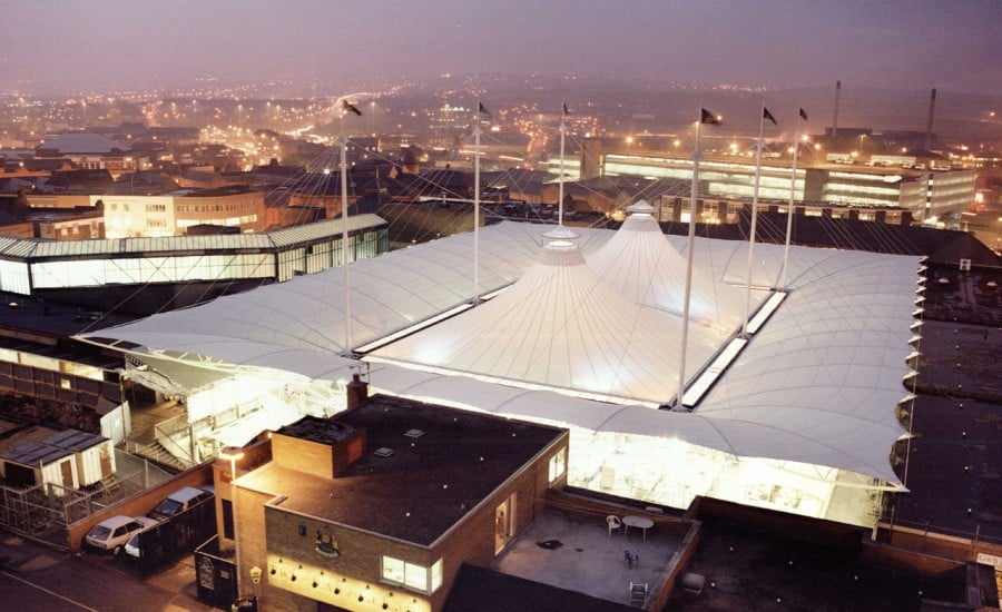 White fabric roof covering market