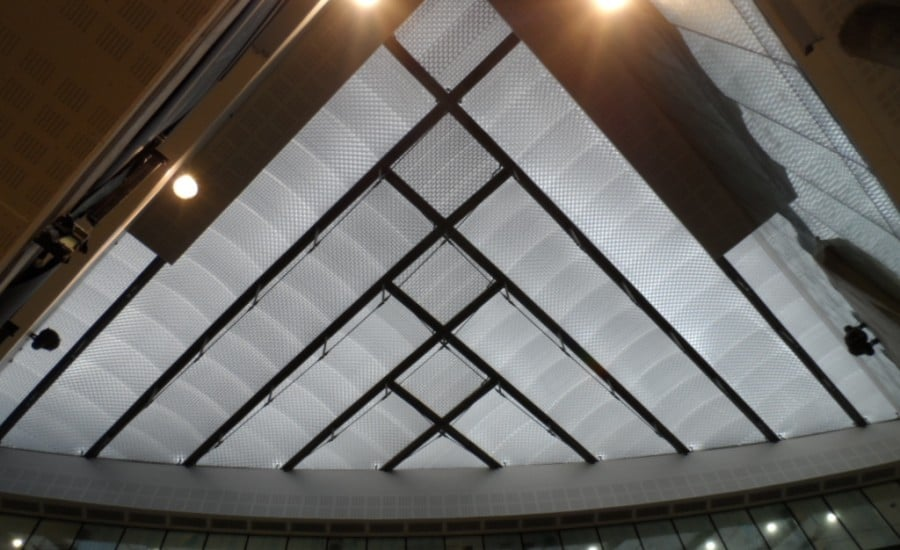 ETFE fabric roof in hospital