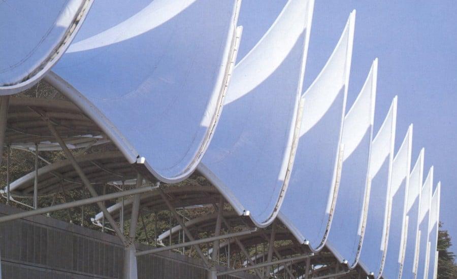 PVC sail entrance feature