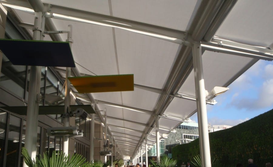 PTFE restaurant shading in Westfield shopping centre