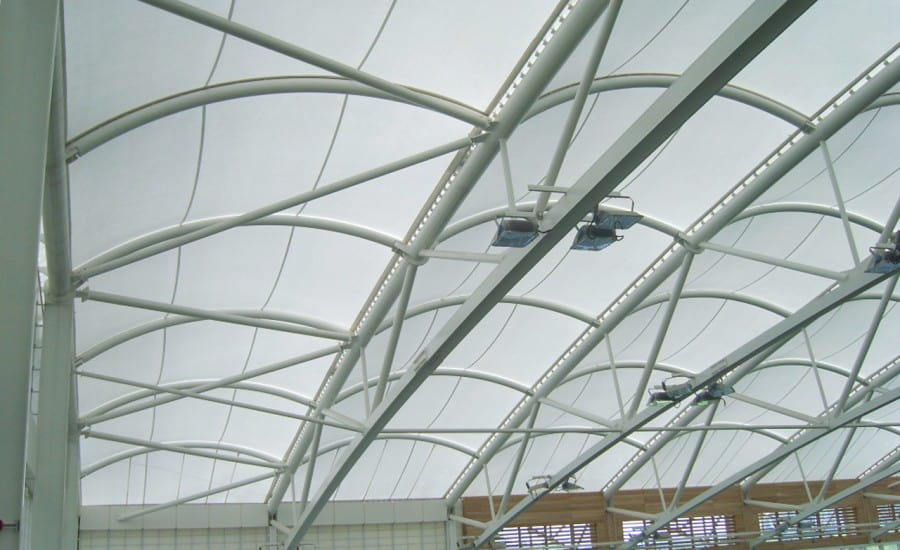Lightweight PVC roof