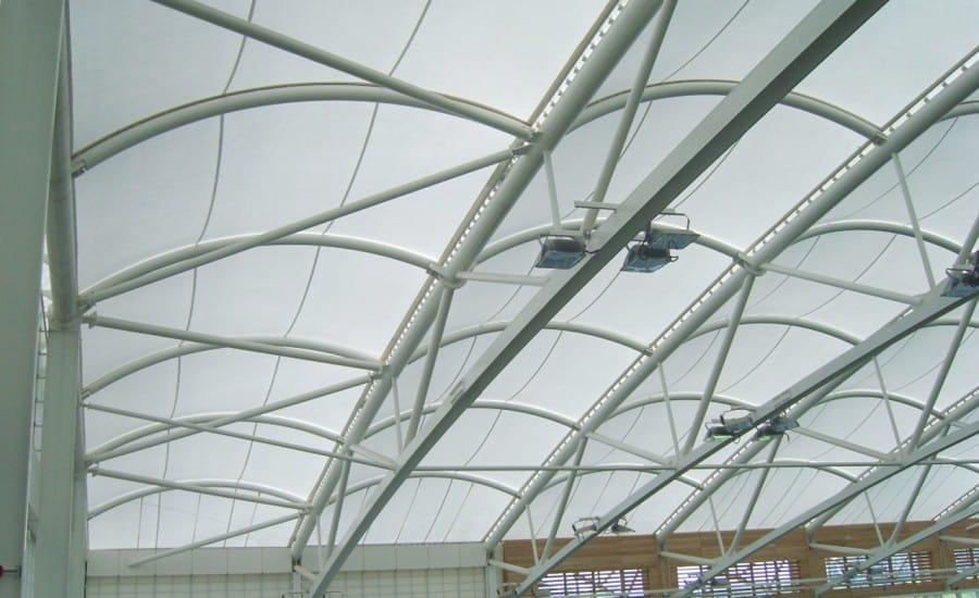 Lightweight PVC roof