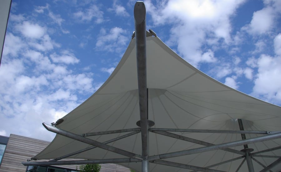 Outdoor PVC canopies for a school