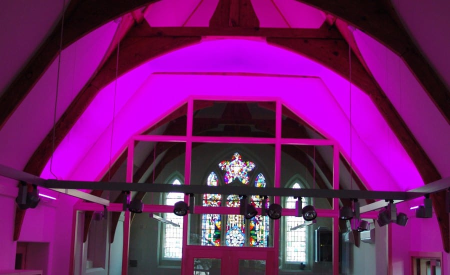 Internal fabirc canopy with lighting display