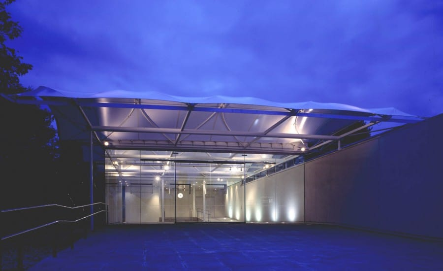 Tensile fabric entrance canopy