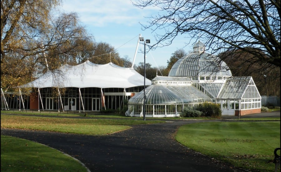 Fabric roof protecting gardens