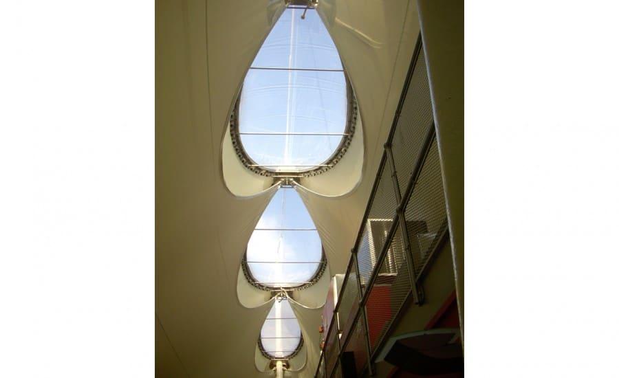 Light transmitting tensil structure